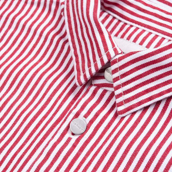 W LS Great Master Shirt // Red/White Rinsed