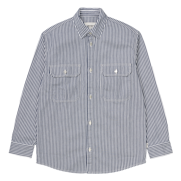 W LS Great Master Shirt // Blue/White Rinsed