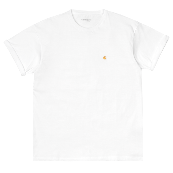 W' SS Chase T-Shirt // White/Gold
