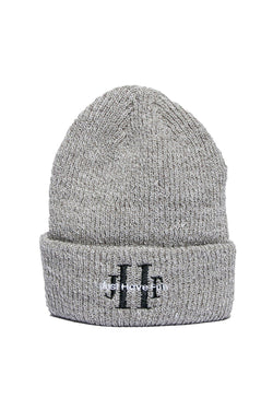 Dark Gray Stoned Washed Beanie // Heather Grey Bonnets Jhf