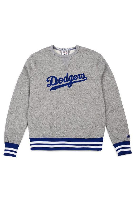 Dark Gray Heritage Crewneck // Dodgers // Royal Sweats sans capuche New Era