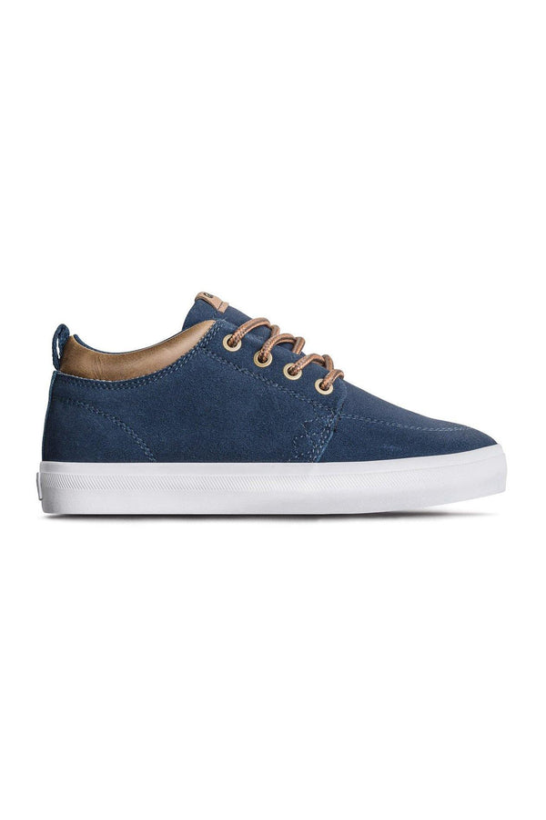 Dark Slate Gray GS Chukka Kids // Navy Suede Sneakers Globe