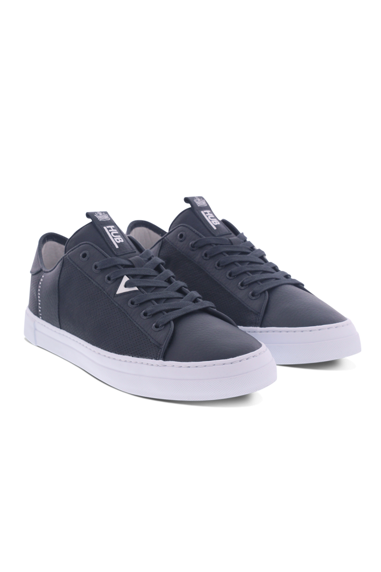 Dark Slate Gray Hook-M L31 // Leather // Navy/White Sneakers Hub