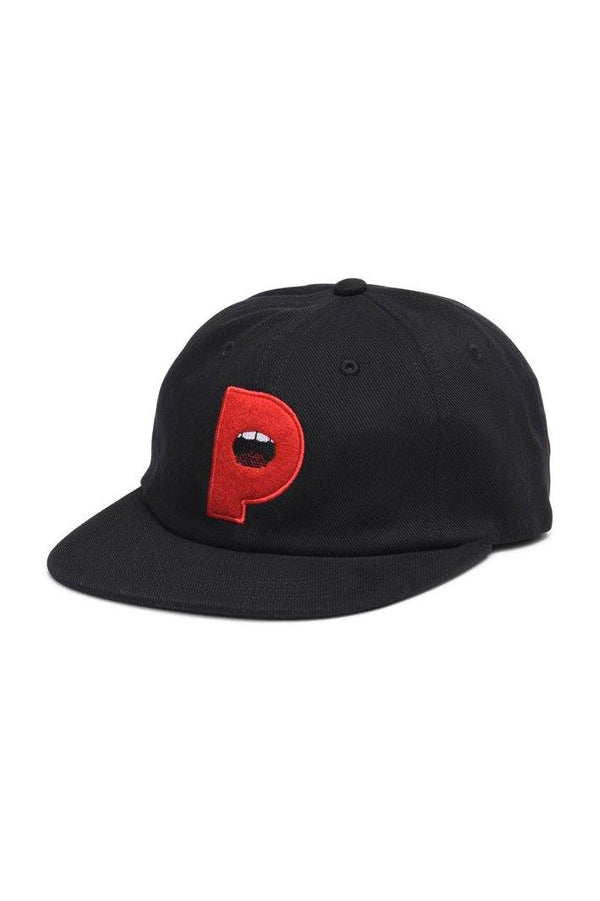 Lips 6 Panel Strapback // Black