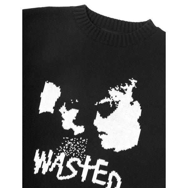 Black Sweater Youth // Black Pulls Wasted Paris