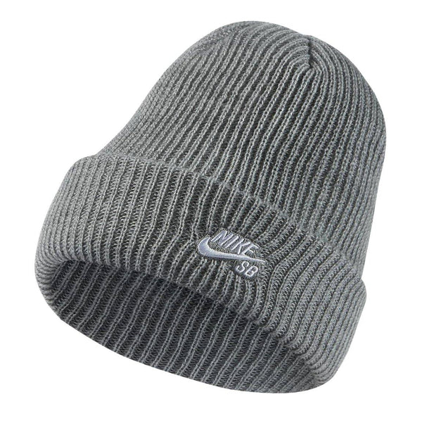 Bonnets - Nike SB - Fisherman Beanie // Grey Heather/White - Stoemp