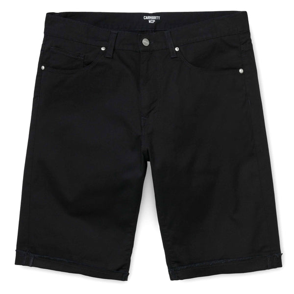 Black Swell Short // Black Rinsed Shorts Carhartt WIP