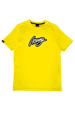 Gold Retro Design 90 Tee-Shirt // Neon Yellow T-shirts Wrung