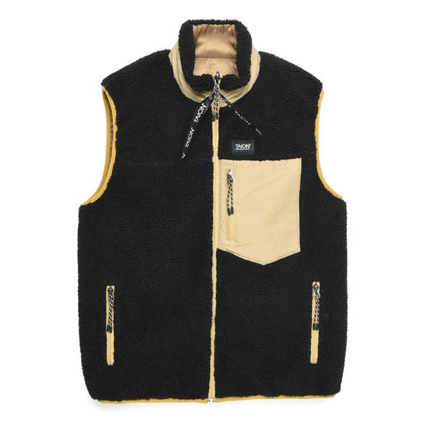 Wheat Down x Boa Reversible Vest // Beige/Black Vestes Taion