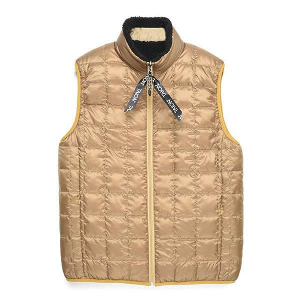 Tan Down x Boa Reversible Vest // Beige/Black Vestes Taion