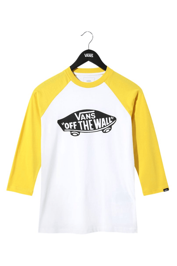 Light Goldenrod OTW Raglan Boy // White/Suphur T-shirts Vans