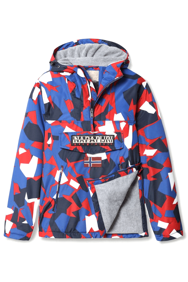 Royal Blue Rainforest Pocket Print // Red Camo Vestes Napapijri