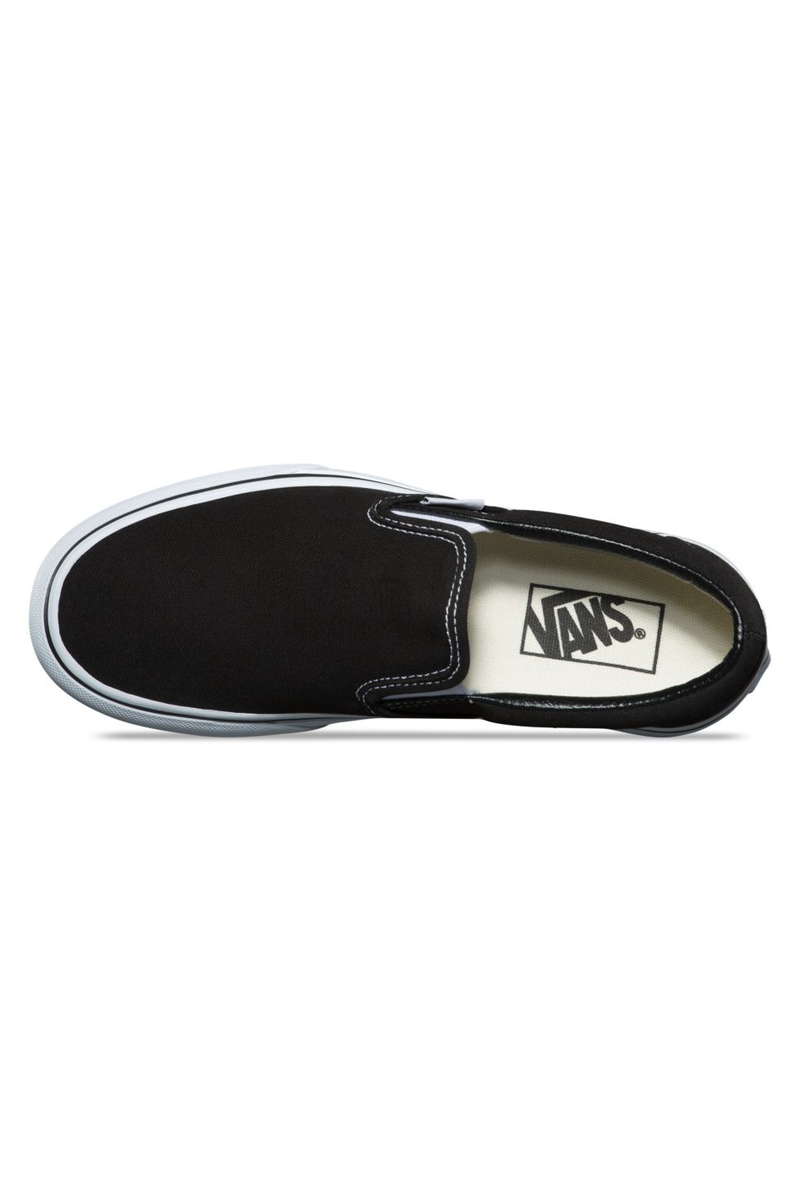 Black Classic Slip-On Platform // Black Sneakers Vans