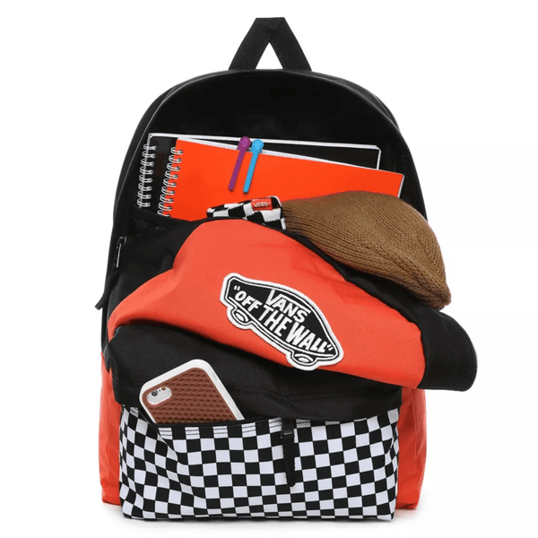 Tomato Realm Backpack // Paprika/Checker Sacs Vans