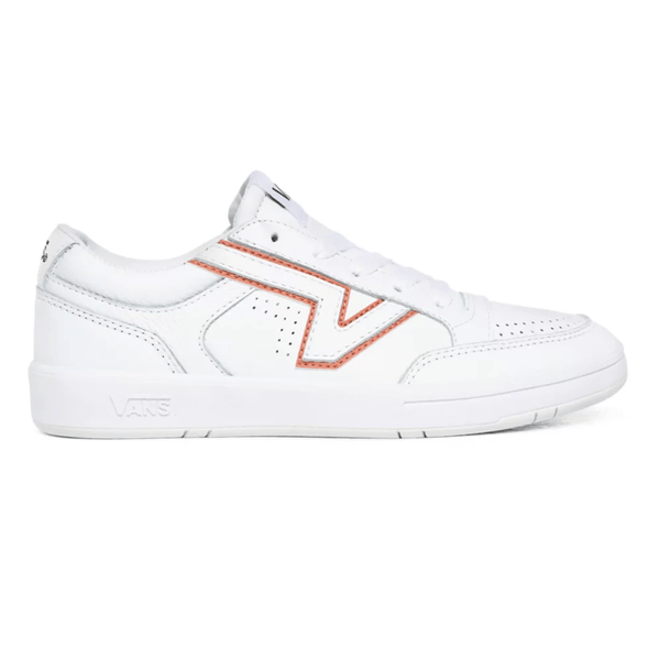 Misty Rose Lowland CC (Leather) // True White/Multi Sneakers Vans