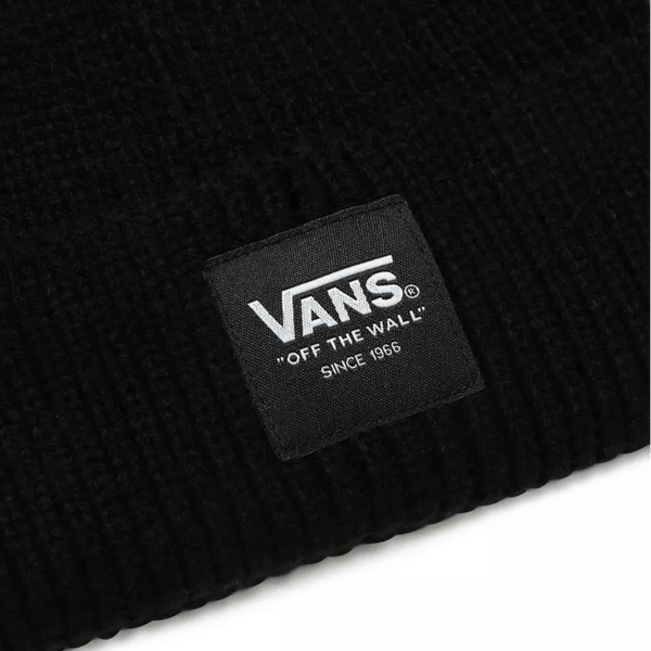 Dark Slate Gray Shorty Beanie // Black Bonnets Vans