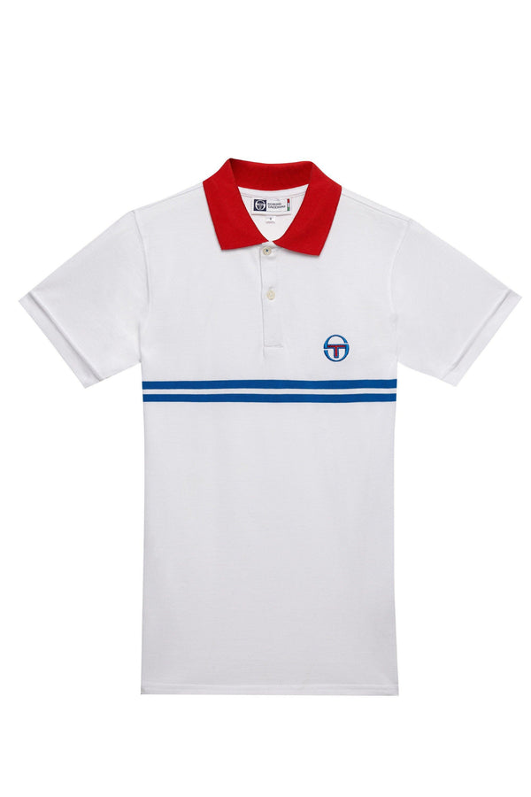Lavender Supermac Polo // White/Royal/Red Polos Sergio Tacchini