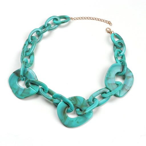 Ines Resin Link Statement Necklace