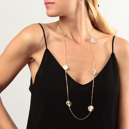 Ivory/Gold Necklace