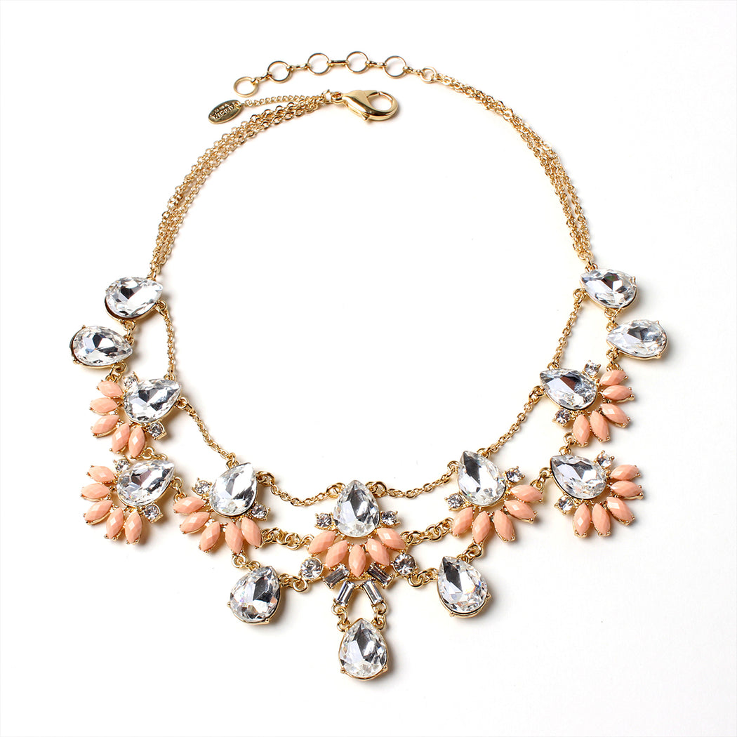 Peach/Gold Necklace