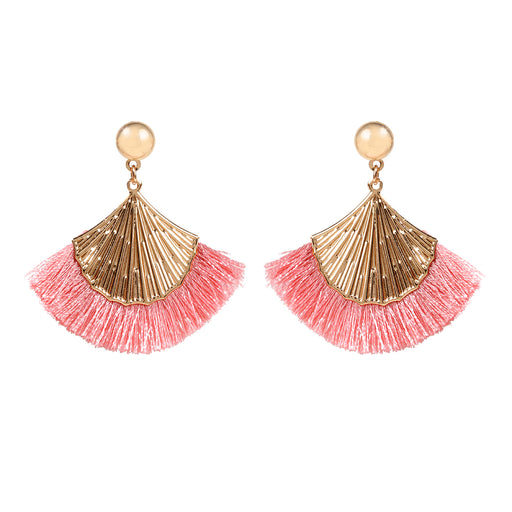 Folding Fan Fringe Earring