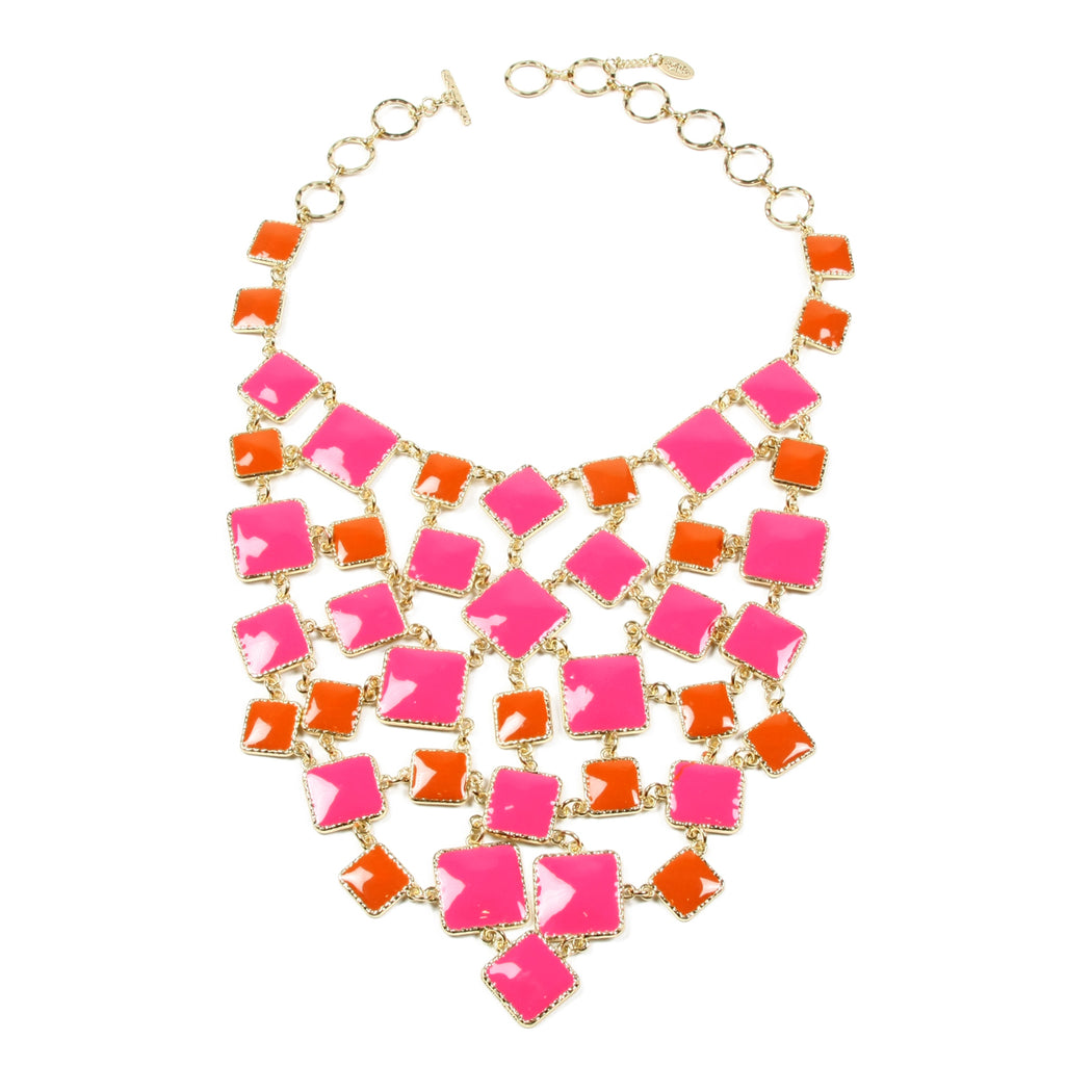 Coral/Fuschia Necklace