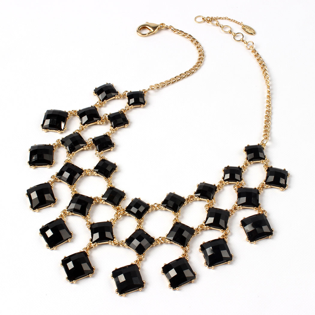 Jet Black/Gold Necklace