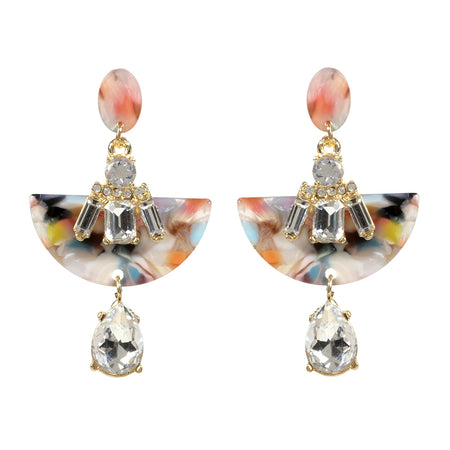 Elena Resin Crystal Earring