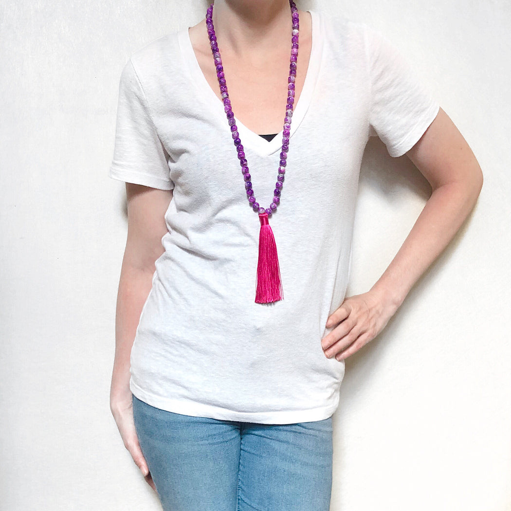 Pink/Purple Necklace
