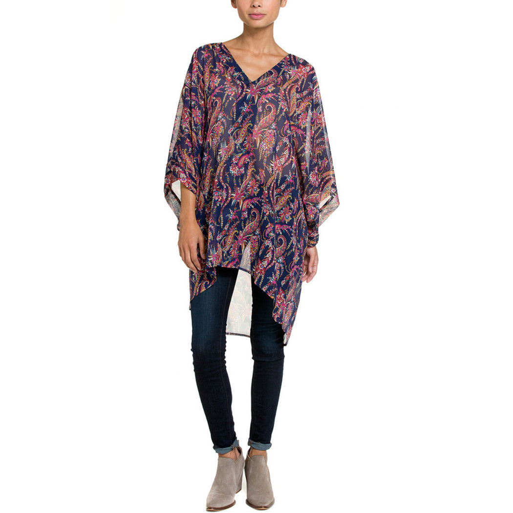 Navy Marrakesh Paisley Tops