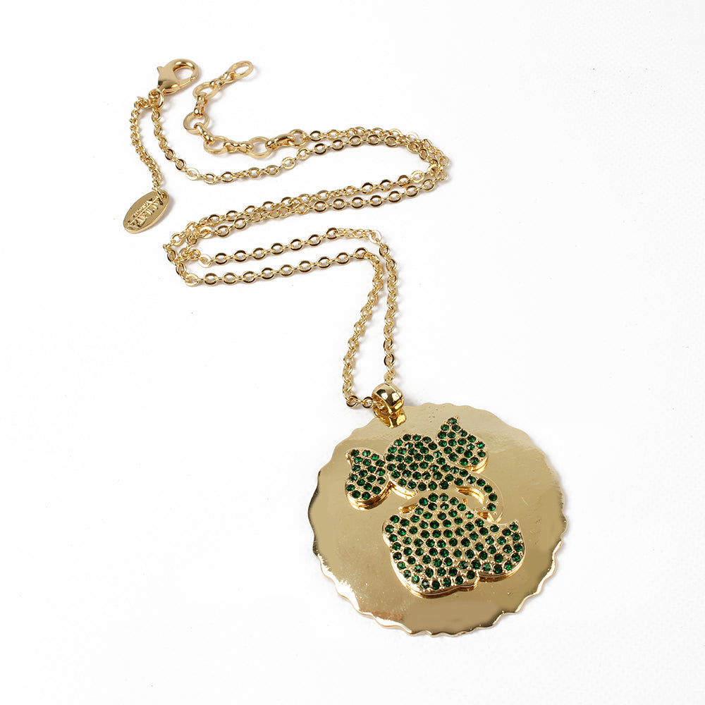 Gold/Emerald Necklace