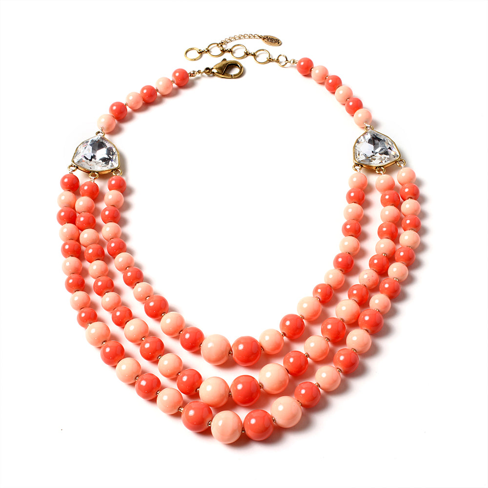 Peach/Light Coral Necklace