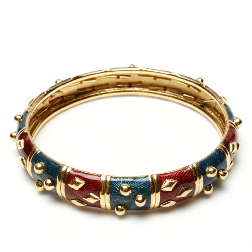 22k Gold and Enamel Begum Bangle