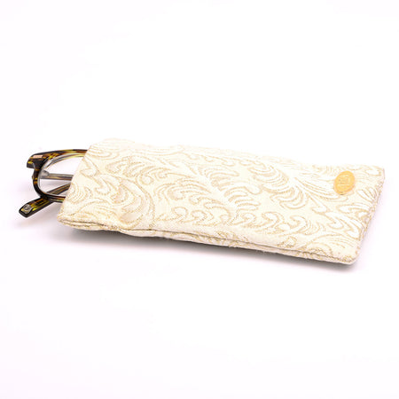 Ivory Eyeglass Case