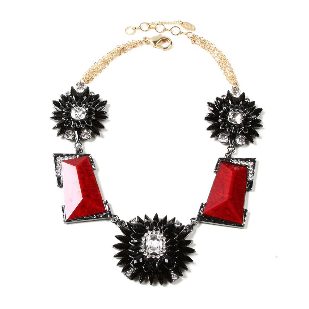 Ruby/Black Necklace