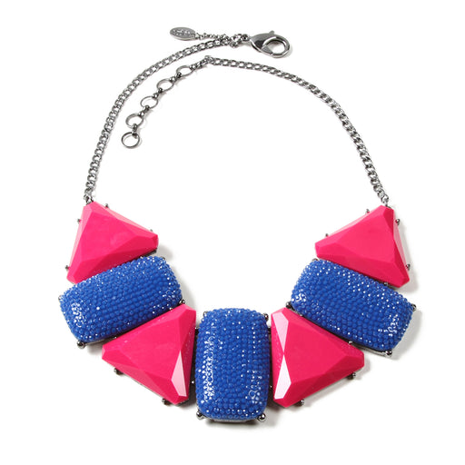 Blue/Fushcia Necklace