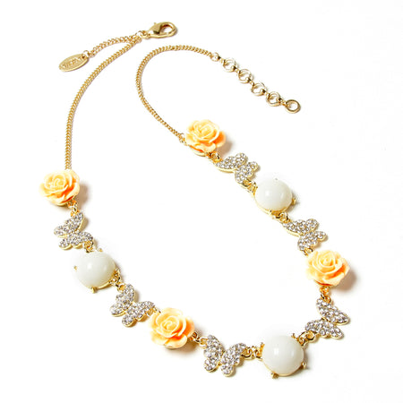 Ivory/Peach Necklace