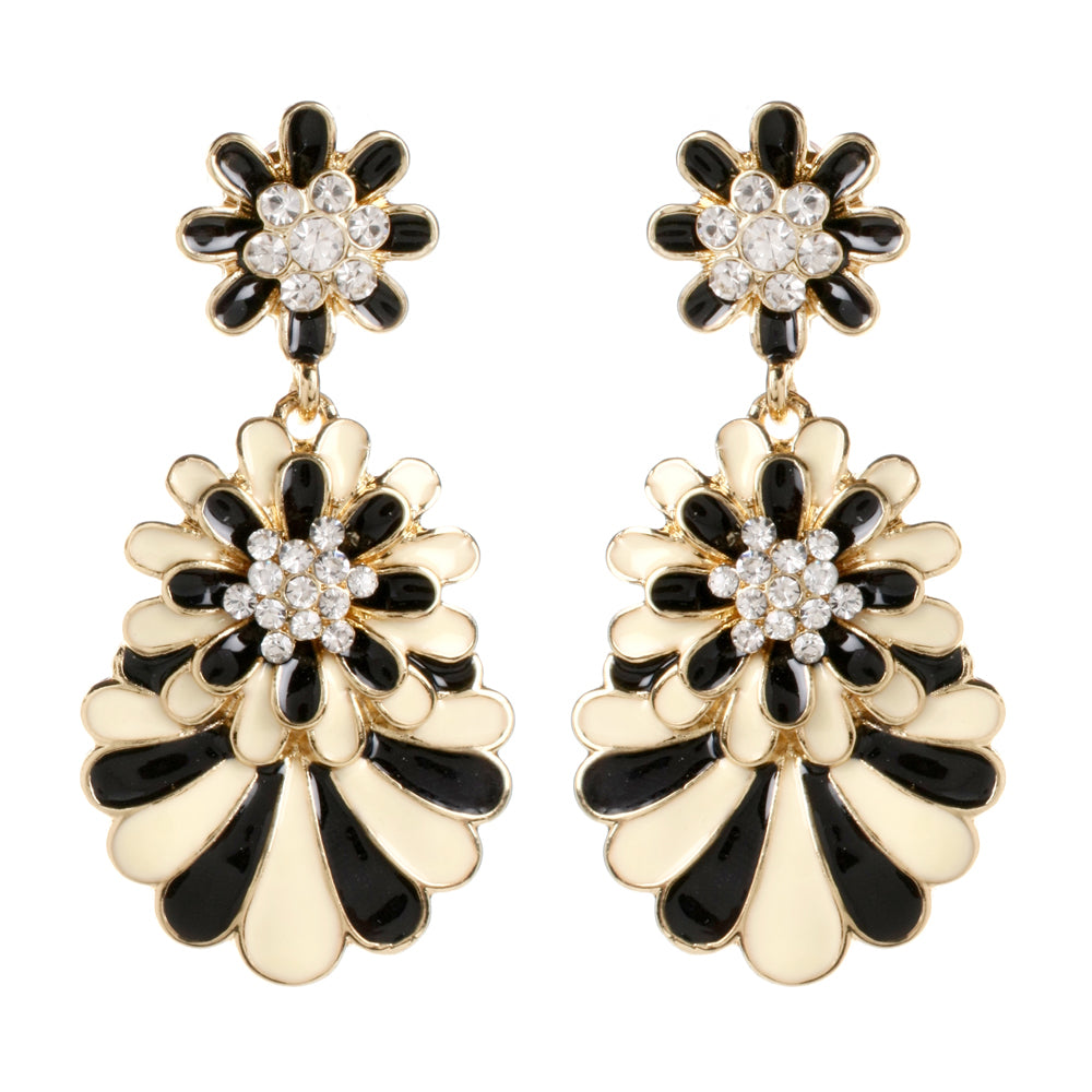 Black/Ivory Earring