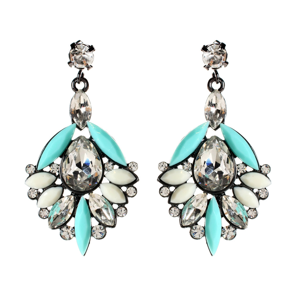 Turquoise/Ivory Earring