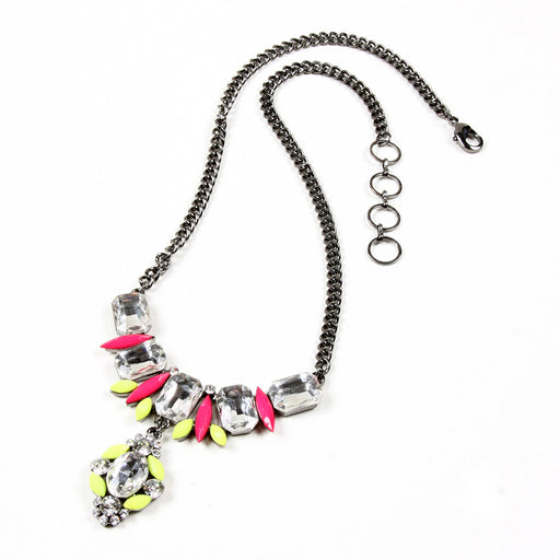 Yellow/Fuschia Necklace