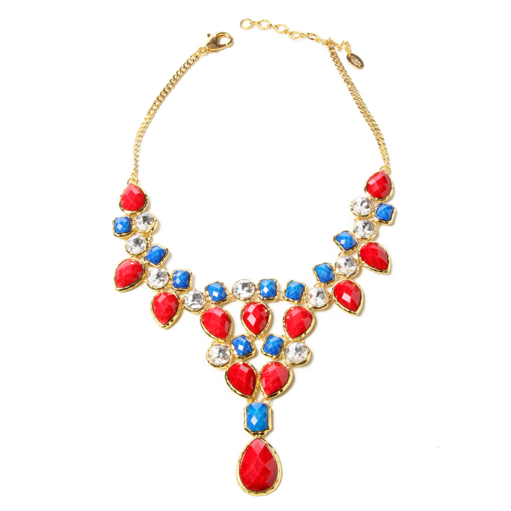 Red/Lapis Necklace