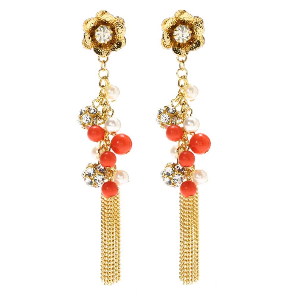 Coral/Ivory Earring