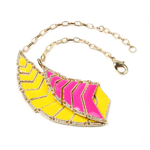 Fuschia/Yellow Necklace