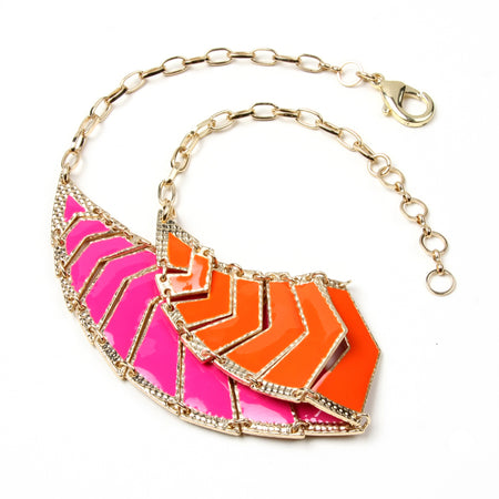 Orange/Fuschia Necklace
