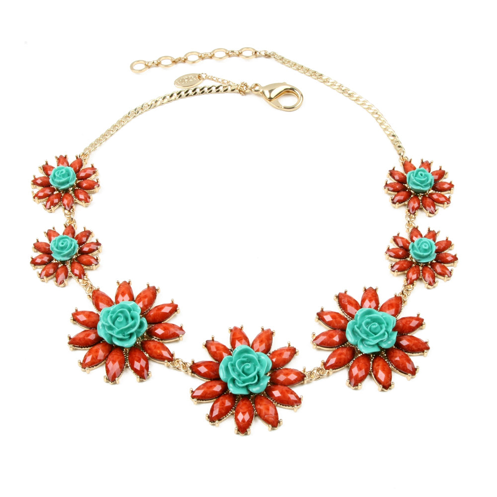 Coral/Turqoise Necklace