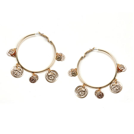 Golden Treasure Hoop Earring