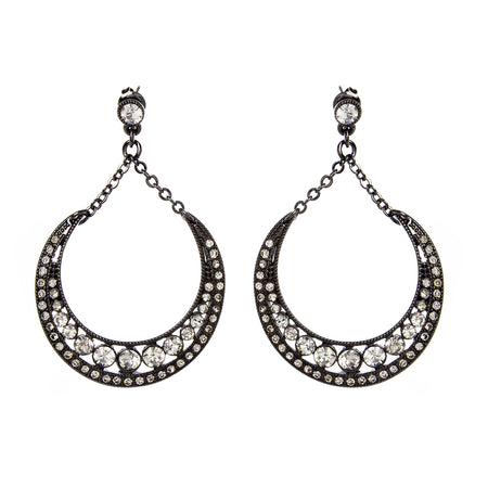 Gunmetal/Clear Earring