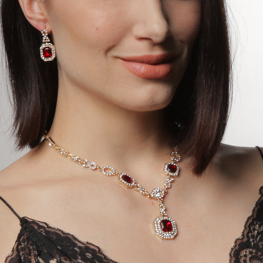 Diana Ruby Tone 2-Pc Jewelry Set — $160 VALUE