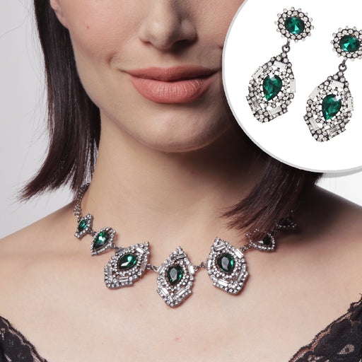 Victoria Emerald Tone 2-Pc Jewelry Set — $135 VALUE