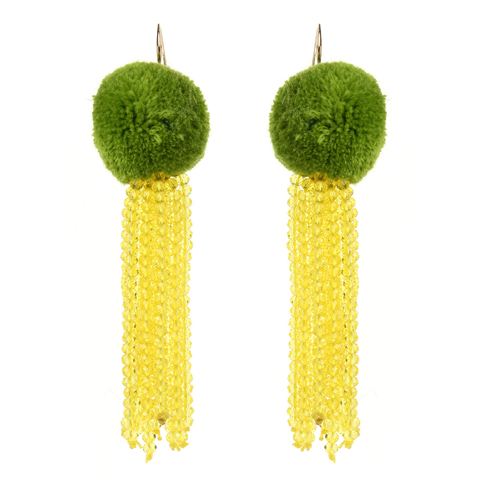 Limon Pom Pom Earrings